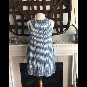 Ava Sky shift dress with pockets